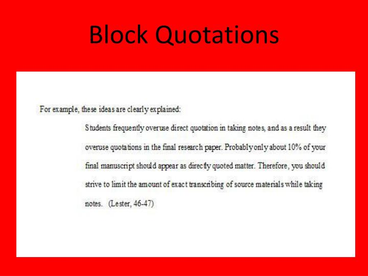 how to do a block quote