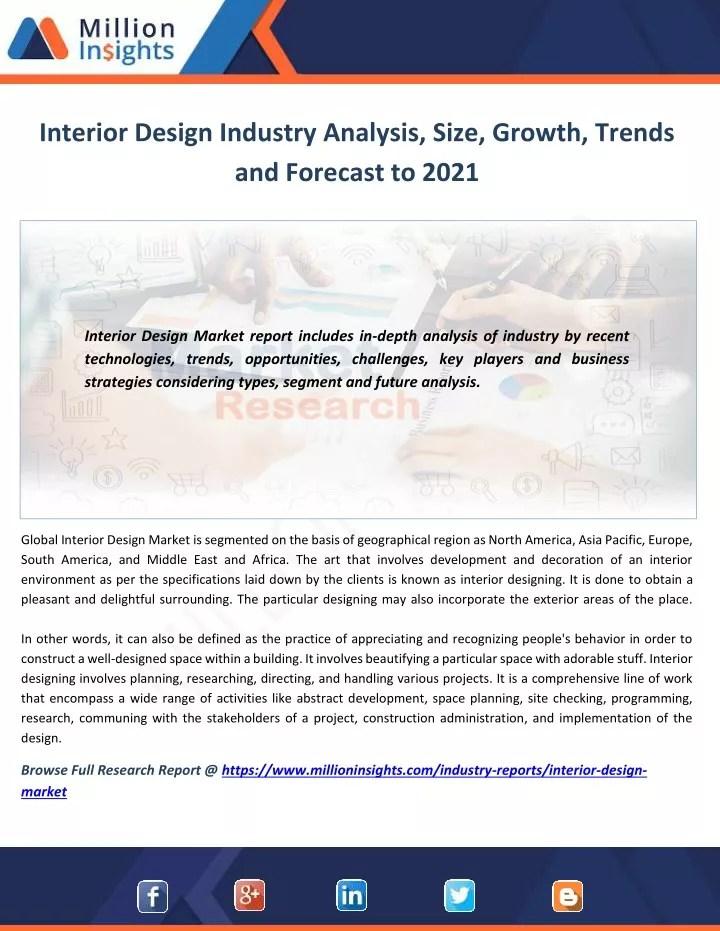 Interior Design Industry Trends