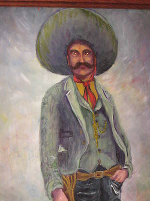 Anthony1947 Emiliano Zapata Oil Painting Artist Signed