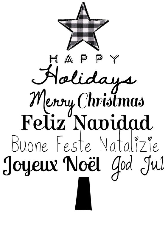 Languages Happy Different Holidays