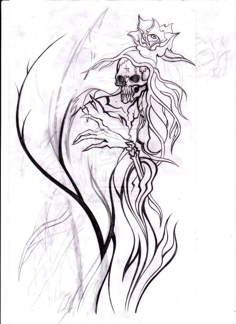 Santa Muerte La Para Dibujar