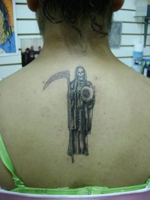Tatuaje Santa Muerte Granada By Marzia Pupa Tattoo Via Flickr