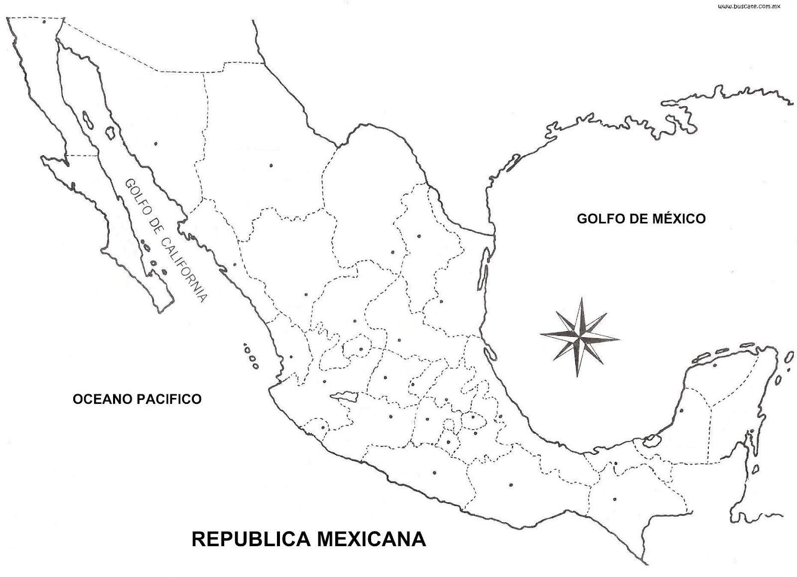 mapa con de mexico nombres el buscar