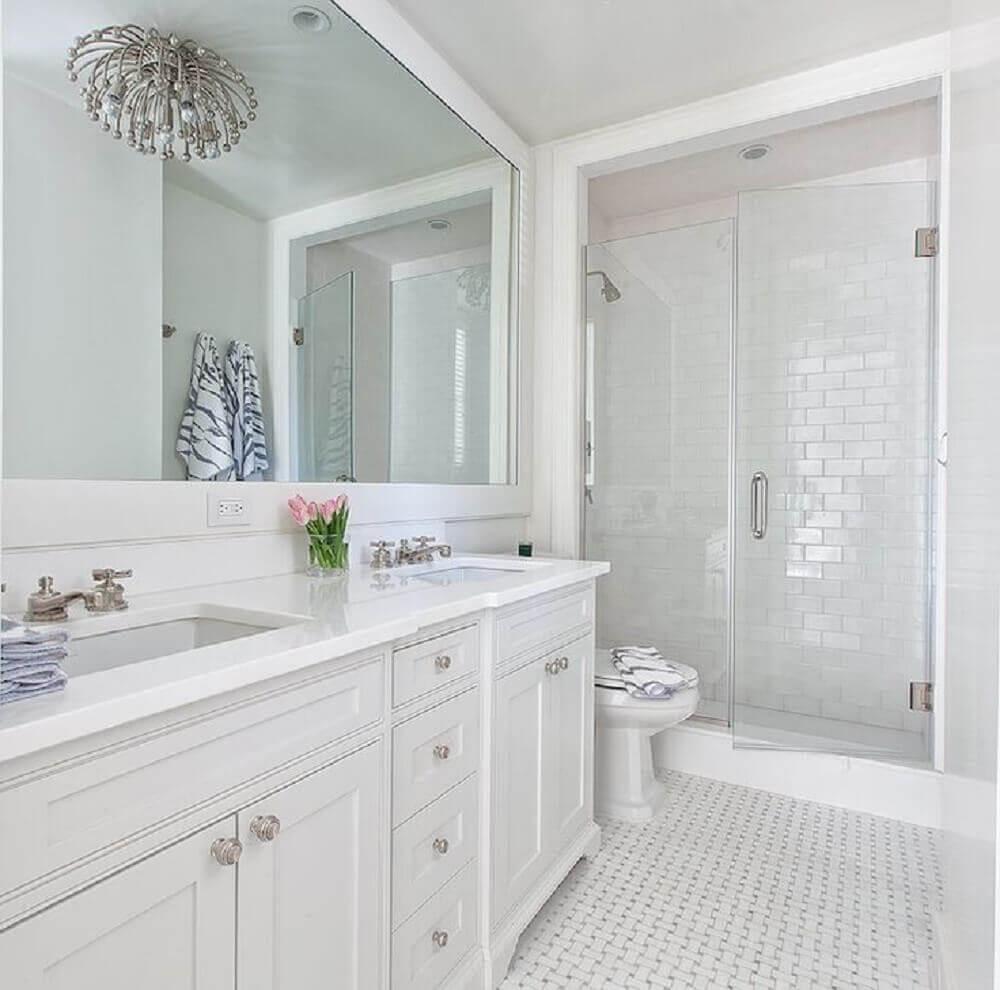 beautiful white bathrooms - 736×729