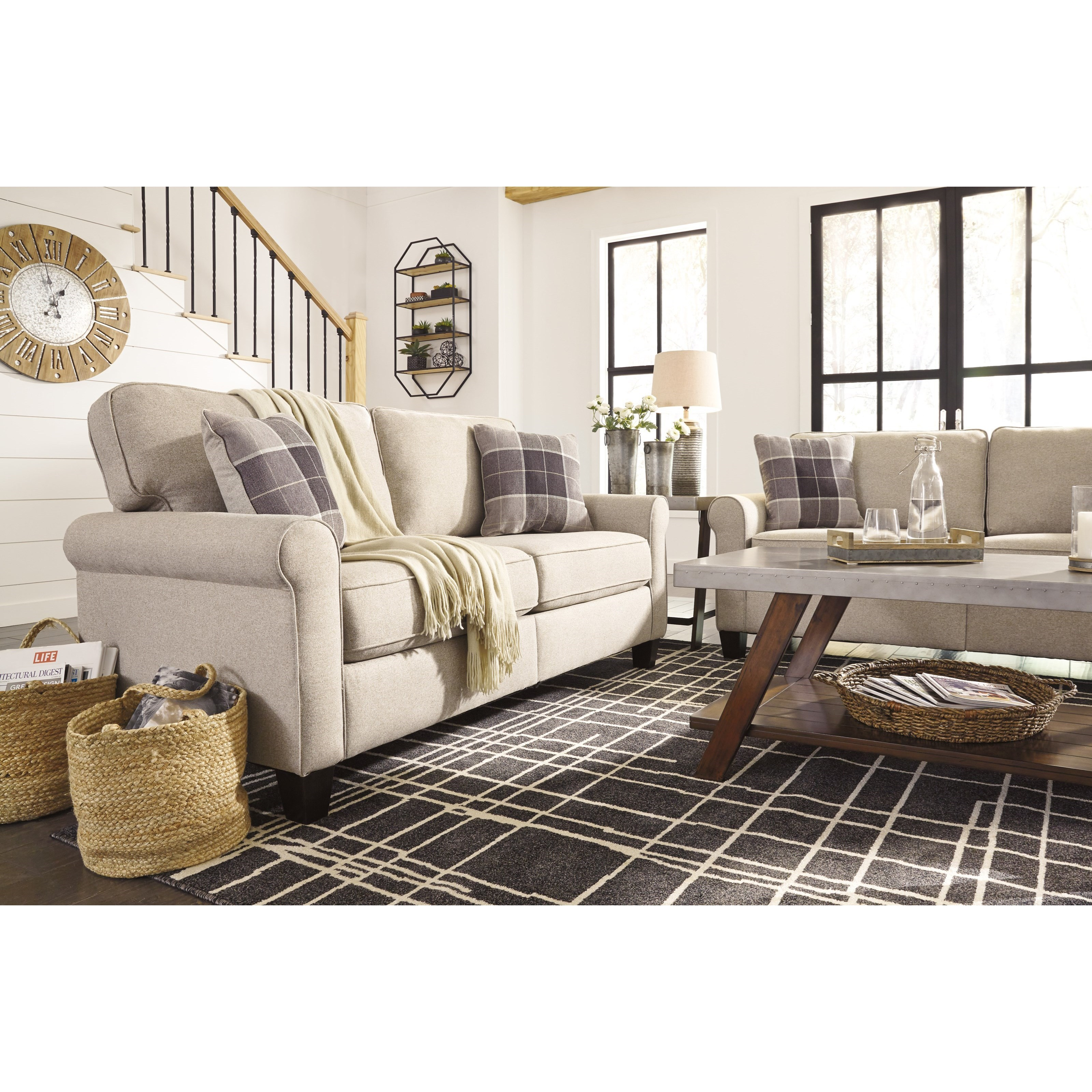 Signature Design by Ashley Lingen Casual Sofa with Rolled Arms         Signature Design by Ashley LingenSofa