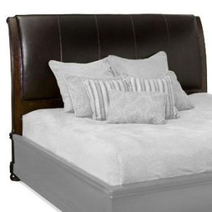 Bernhardt Belmont King Size Leather Upholstered Sleigh Headboard     Bernhardt Belmont King Size Leather Upholstered Sleigh Headboard