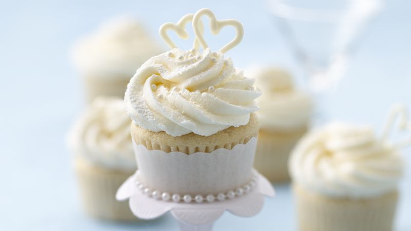 Wedding Cupcakes Recipe   BettyCrocker com Wedding Cupcakes