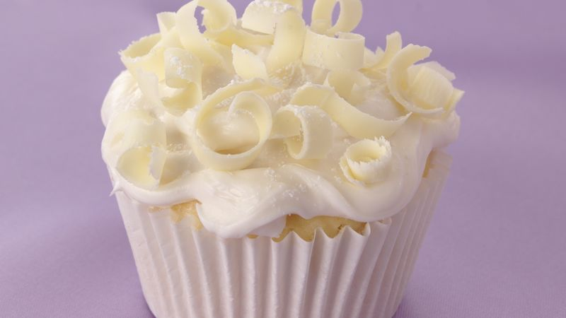 White on White Wedding Cupcakes Recipe   BettyCrocker com White on White Wedding Cupcakes