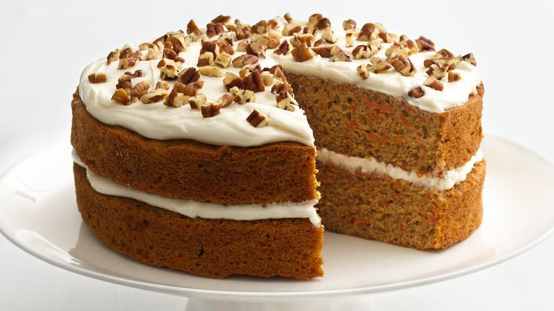 Skinny Carrot Cake Recipe   BettyCrocker com Skinny Carrot Cake