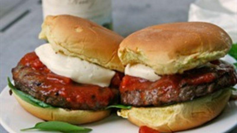 Margherita Pizza Burger Recipe Tablespoon Com