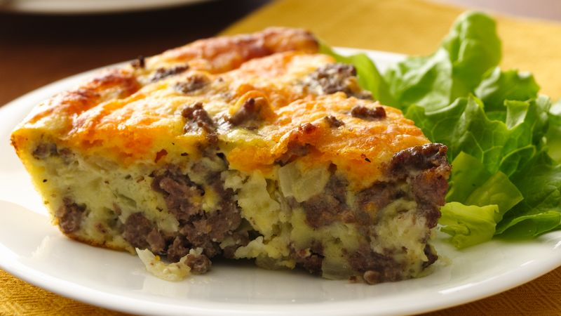 Gluten Free Impossibly Easy Cheeseburger Pie Recipe