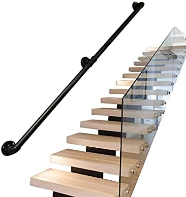 Fhw Safety Handrails For Stairs Outdoor Indoor Handrail For | Safety Handrails For Stairs | Wood Outdoor Hand | Baby Proofing | Wall | Rake | Front