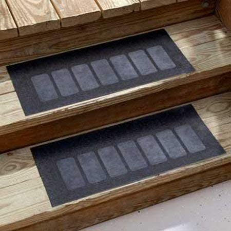 Amazon Com Heavy Duty Outdoor Rubber Stair Treads Set Of 2   Exterior Rubber Stair Treads   Self Adhesive   Commercial   Standard Length 48   Carpet Stair   Non Slip