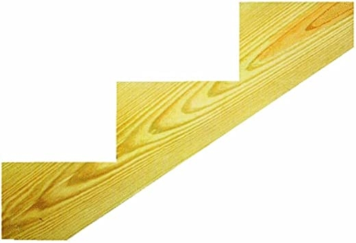 Miller Sr 3Sel Treated 3 Step Stringer Staircase Step Treads | Southern Yellow Pine Stair Treads | Hazardous | Stained Pine | Black Stained | Staining | Bullnose