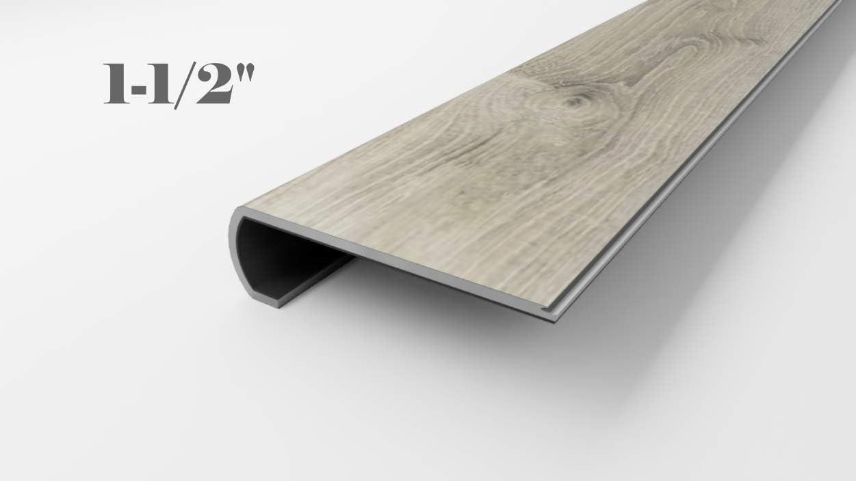 Sterling Oak Vinyl Flooring Stair Tread Nosing 1 5 Inch 4 42 | 42 Oak Stair Treads | Stair Parts | Wood | White Oak Unfinished | Modern Retro | Lowes