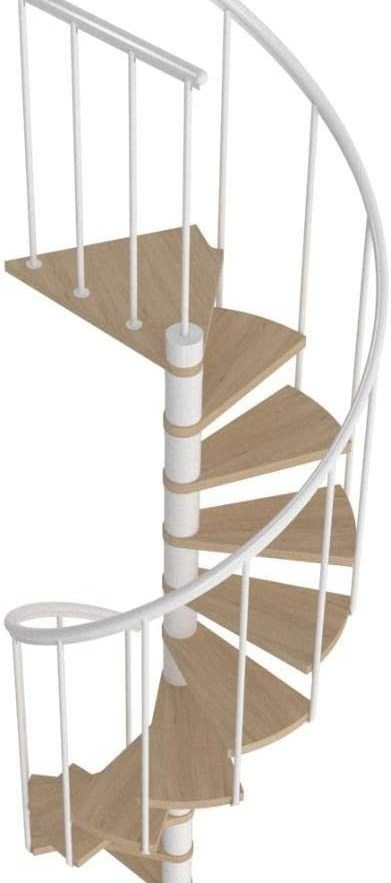 Space Saving Spiral Staircase Montreal White Classic 2 | Space Saving Spiral Staircase | Kid Friendly | Iron | Design | Mini | Roof Access