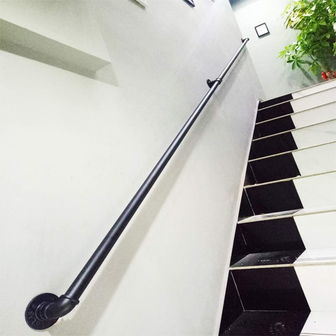 Elderly Safety Staircase Railing Wrought Iron Balustrade Water | Industrial Stair Railing Design | Industrial Style | All Metal Interior | Contemporary Metal | Small Stair | Detail Industrial