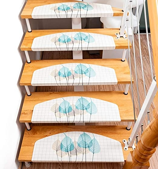 Amazon Com Simple Romantic Light Color Stairs Mat Multiple Styles   Amazon Outdoor Stair Treads   Non Slip   Self Adhesive   Mat   Treads Carpet   Indoor Outdoor