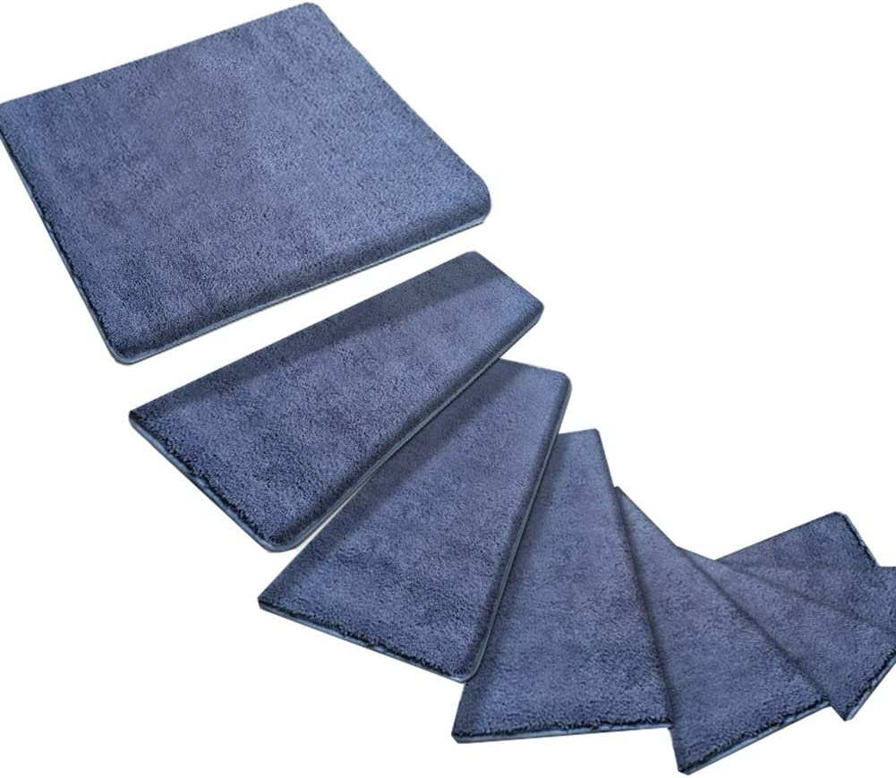 Carpets Stairs Treads For Steps Self Adhesive Stair Treads Mats | Padded Carpet Stair Treads | Stair Risers | Adhesive Padding | Bullnose Padded | Staircase Makeover | Flooring