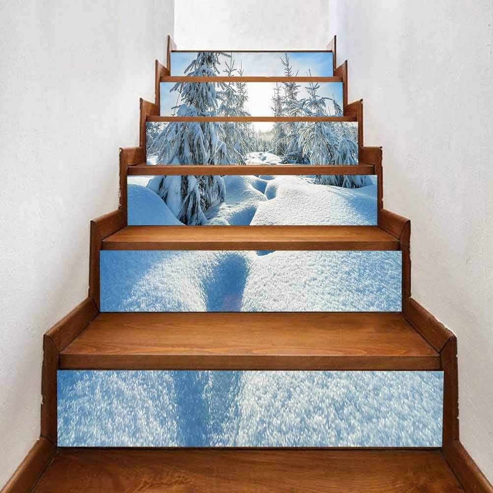 Amazon Com Creative Decorative 3D Self Adhesive Stair Riser Decal | Amazon Outdoor Stair Treads | Self Adhesive | Non Skid | Rubber Backing | Rubber Stair | Carpet Stair