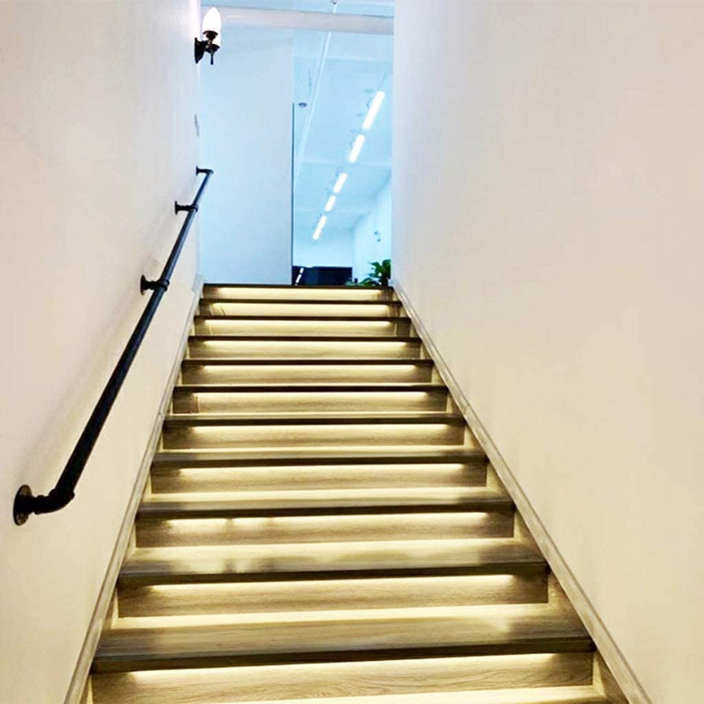 Amazon Com Lyhxxx Handrail Complete Kit Industrial Pipe Matte | Industrial Stair Railing Design | Industrial Style | All Metal Interior | Contemporary Metal | Small Stair | Detail Industrial