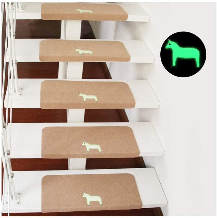 Amazon Com Non Slip Carpet Stair Treads Noctilucence Self | Floor And Decor Wood Stair Treads | Carpet | Unfinished Pine | Engineered Hardwood | Stair Riser | Basement Stairs