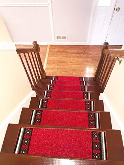 Amazon Com Stair Treads Carpet Rubber Backing – Stair Runners For   Rubber Backed Carpet Stair Treads   Ottomanson Softy   Wood   Softy Stair   Slip Resistant Rubber   Beige