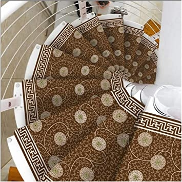 Stair Treads Carpet Non Slip Self Adhesive Stair Treads Mats Pad | Spiral Staircase Carpet Treads | Replacement | Carpeting | Semi Circle | Interior | Double Winder Staircase