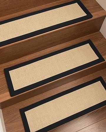 Amazon Com Natural Area Rugs Cream Deco Diy Pet Friendly Handmade | Sisal Carpet Stair Treads | Oak Valley | Skid Sisal | Stair Runner | Fiber Sisal | Landing Mat