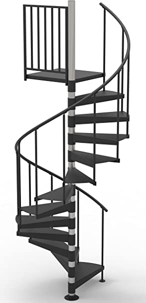 42 Diameter Non Code Spiral Stair Kit Primed Steel 85 95   Outdoor Metal Spiral Staircase For Sale   Wooden Staircases   Dipped Galvanized   Wrought Iron   Railing Design   Cast Iron