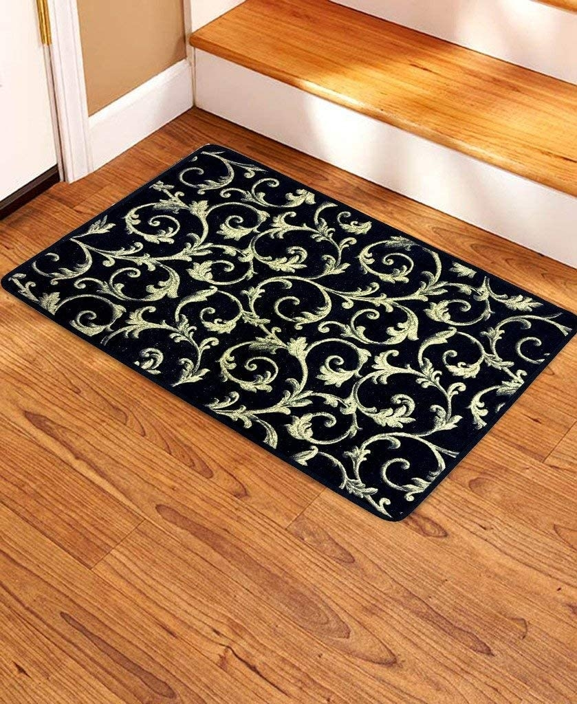 Amazon Com Seloom Non Slip Stair Treads Carpet Landing Mat 2 X3   Soloom Carpet Stair Treads   Blended Jacquard   Amazon   Beige   Mat   Flooring