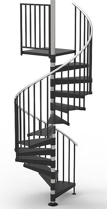60 Diameter Code Compliant Spiral Stair Kit Primed Steel 101 | 36 Inch Spiral Staircase | Stair Case | Steel | Steps | Tread Depth | Handrail