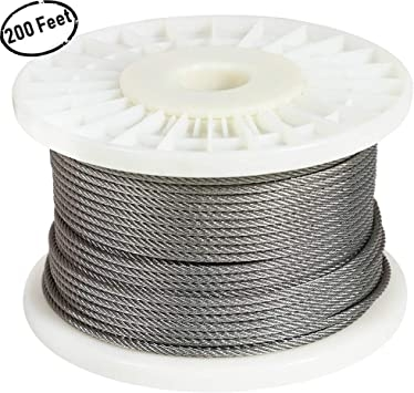 Fowong 1 8 316 Stainless Steel Wire Rope For Stair Railing Lights | Diy Deck Stair Railing | Easy | Outdoor | Aircraft Cable | House | Simple