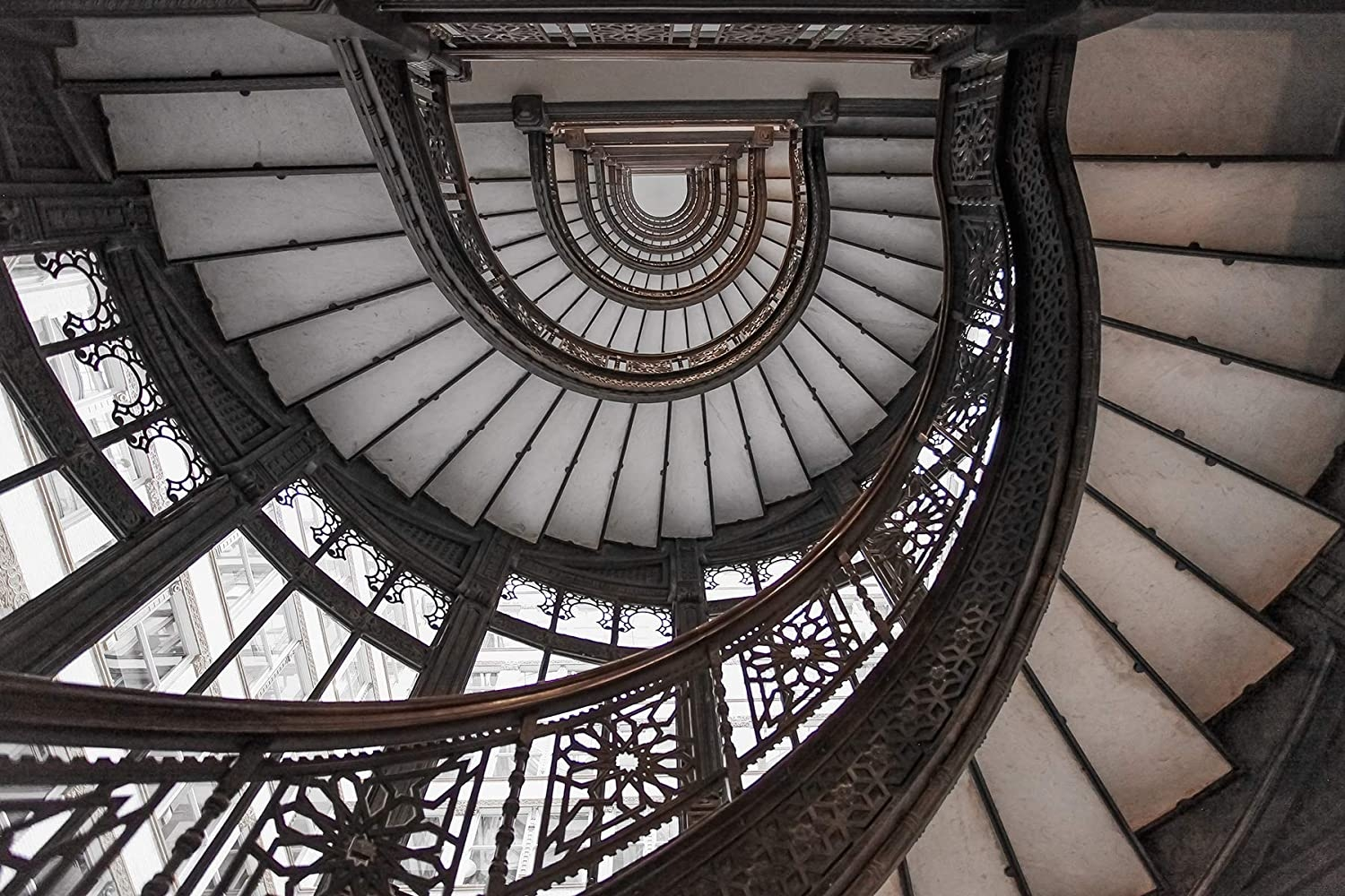 Amazon Com Chicago Print Rookery Stairs Spiral Oriel Staircase   Frank Lloyd Wright Stairs   Basement   Dorm   Design   Obras   Floor Plan