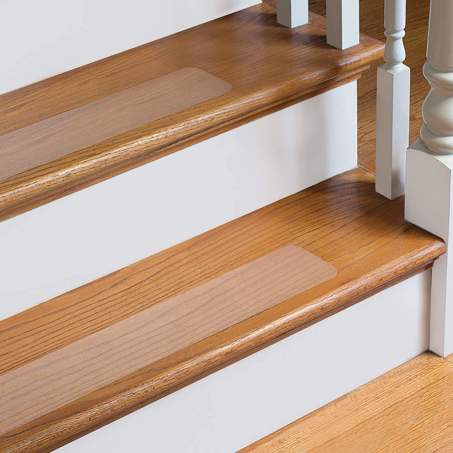 Steptips Clear Self Adhesive Non Slip Stair Treads Pre Cut   Slippery Wood Stairs Outdoor   Composite Decking   Non Slip Stair Tread   Porch   Hardwood   Prevent Slips