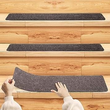 Pretigo Non Slip Carpet Stair Treads Set Of 14 Safety Slip   Carpet Stair Treads Amazon   Non Skid   Anti Slip   Beige   Skid Resistant   Tread Rugs