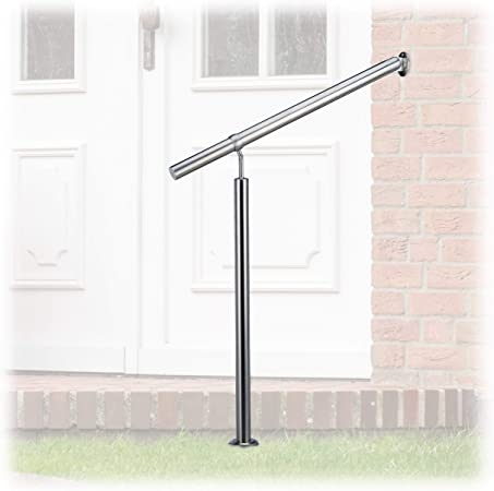 Amazon Com Relaxdays Stainless Steel Handrail For In And Outdoor | Stainless Steel Handrails For Outdoor Steps | Modern | Safety | Staircase | Garden | External
