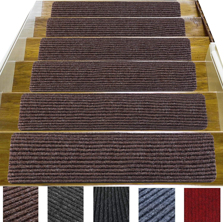 14 Pack 8 X 30 Non Slip Stair Treads Carpet Indoor Anti Slip | Stair Treads For Carpeted Stairs | Wood Stairs | Laminate | Anti Slip Stair | Basement Stairs | Skid Resistant