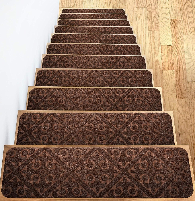 Carpet Stair Treads Set Of 13 Non Slip Skid Rubber Runner Mats Or | Stair Treads And Runners | Non Slip | Mat | Treads Carpet | Bullnose Carpet Runners | Staircase