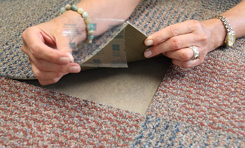 Amazon Com Flor Tactiles Carpet Tile Adhesive Connectors 20 Pack   Flor Carpet Tiles For Stairs   Diy Stair   Carpet Runners   Patterned Carpet   Area Rugs   Floor Tiles