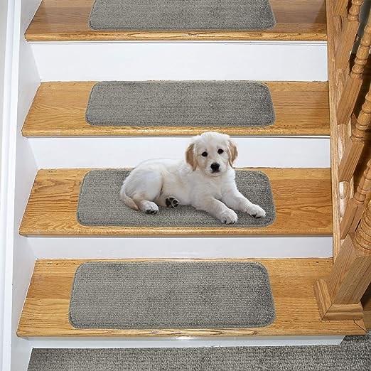 Amazon Com Ottomanson Comfort Soft Sh*G Carpet Stair Treads 5 | Carpet For Stairs Amazon | Indoor Stair | Anti Slip | Stair Runner Rugs | Self Adhesive | Beige