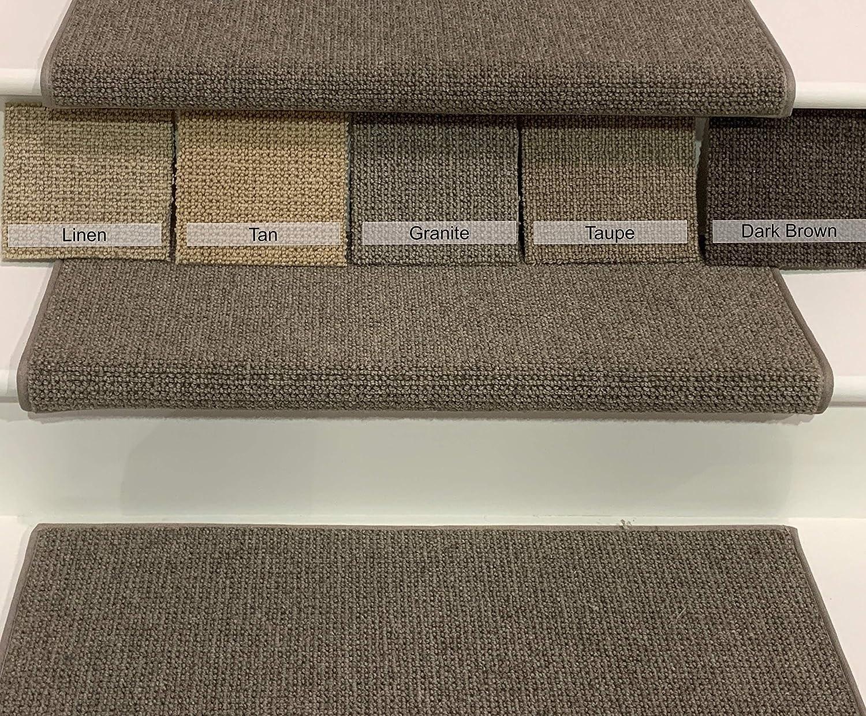Amazon Com Oak Valley Designs Wool Carpet Stair Treads Style | Wool Carpet Stair Treads | Flooring | Zealand Wool | Beige Carpet | Cat Pet | Hardwood Stairs