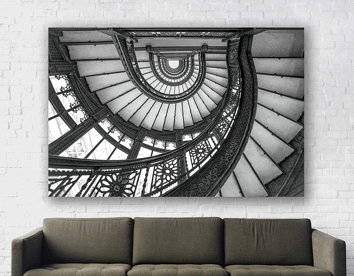 Amazon Com Chicago Wall Art Rookery Stairs Spiral Oriel | Frank Lloyd Wright Stairs | Exterior | Farmhouse | Gordon Strong | Bedroom | Wife