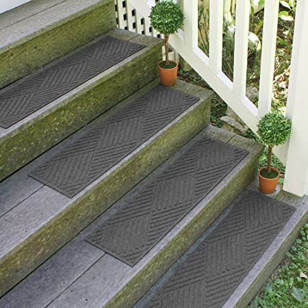 Amazon Com Aqua Shield Diamonds Stair Treads 8 5 By 30 Inch | Amazon Outdoor Stair Treads | Self Adhesive | Non Skid | Rubber Backing | Rubber Stair | Carpet Stair