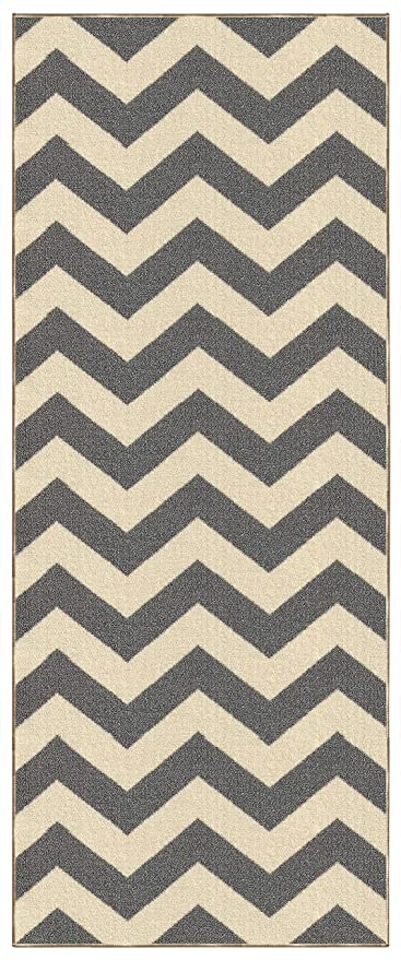 Amazon Com Kapaqua Custom Size Grey Chevron Zig Zag Rubber | Zig Zag Carpet On Stairs | Mohawk Patterned Carpet | Stair Triangular Landing | Before And After | American Style | Silver Grey