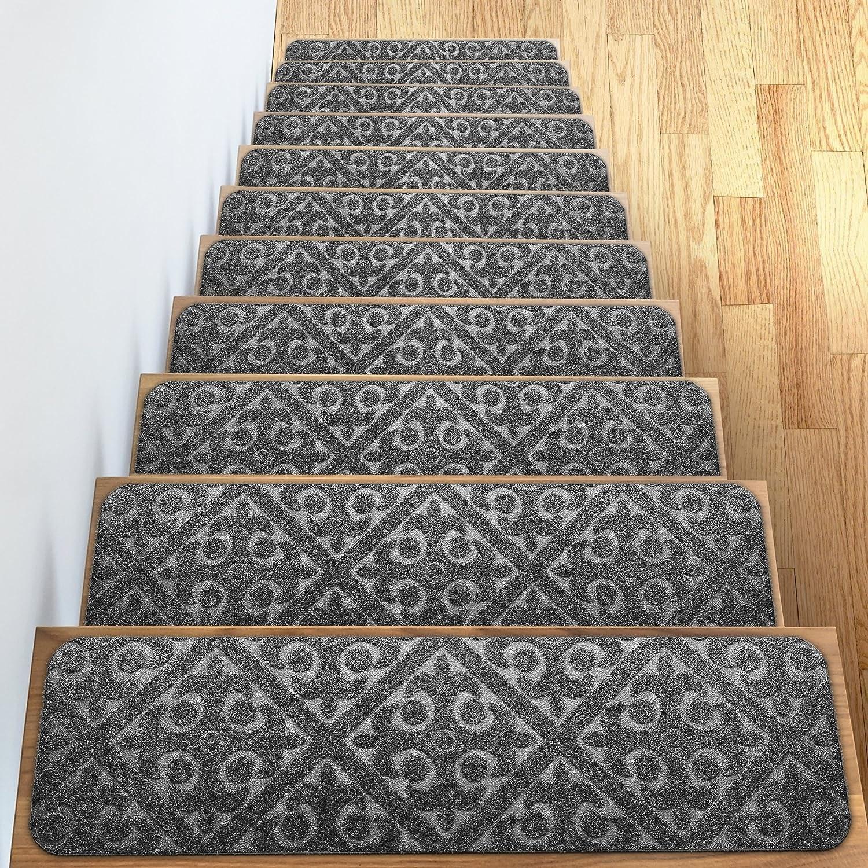 Amazon Com Carpet Stair Treads Set Of 13 Non Slip Skid Rubber | Carpet Stair Treads Near Me | Flooring | Stair Runner | True Bullnose | Indoor Stair | Non Slip