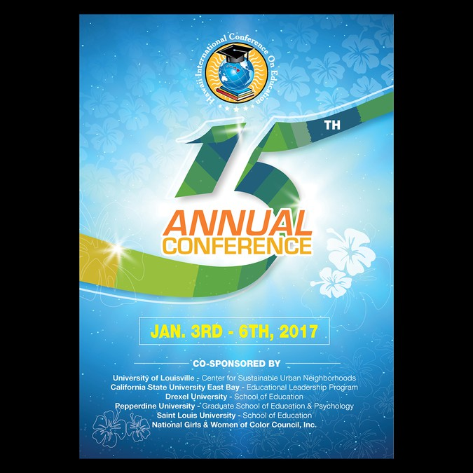 Conference Program Cover Design Postcard Flyer Or