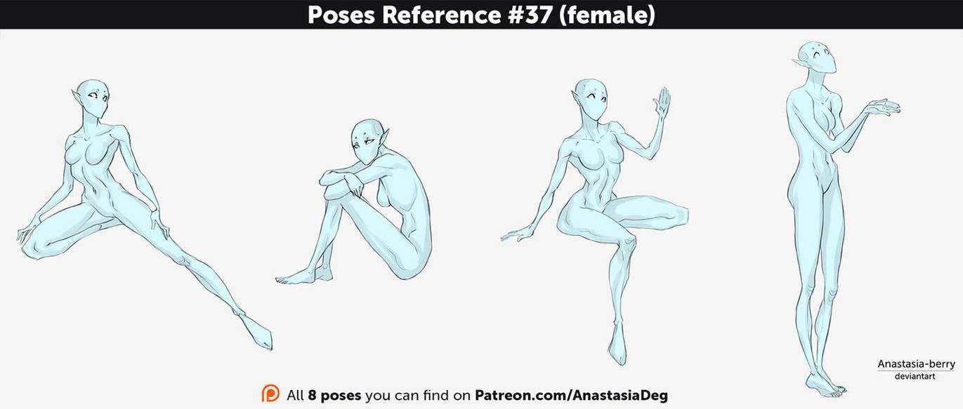 Reference Female Sad Pose