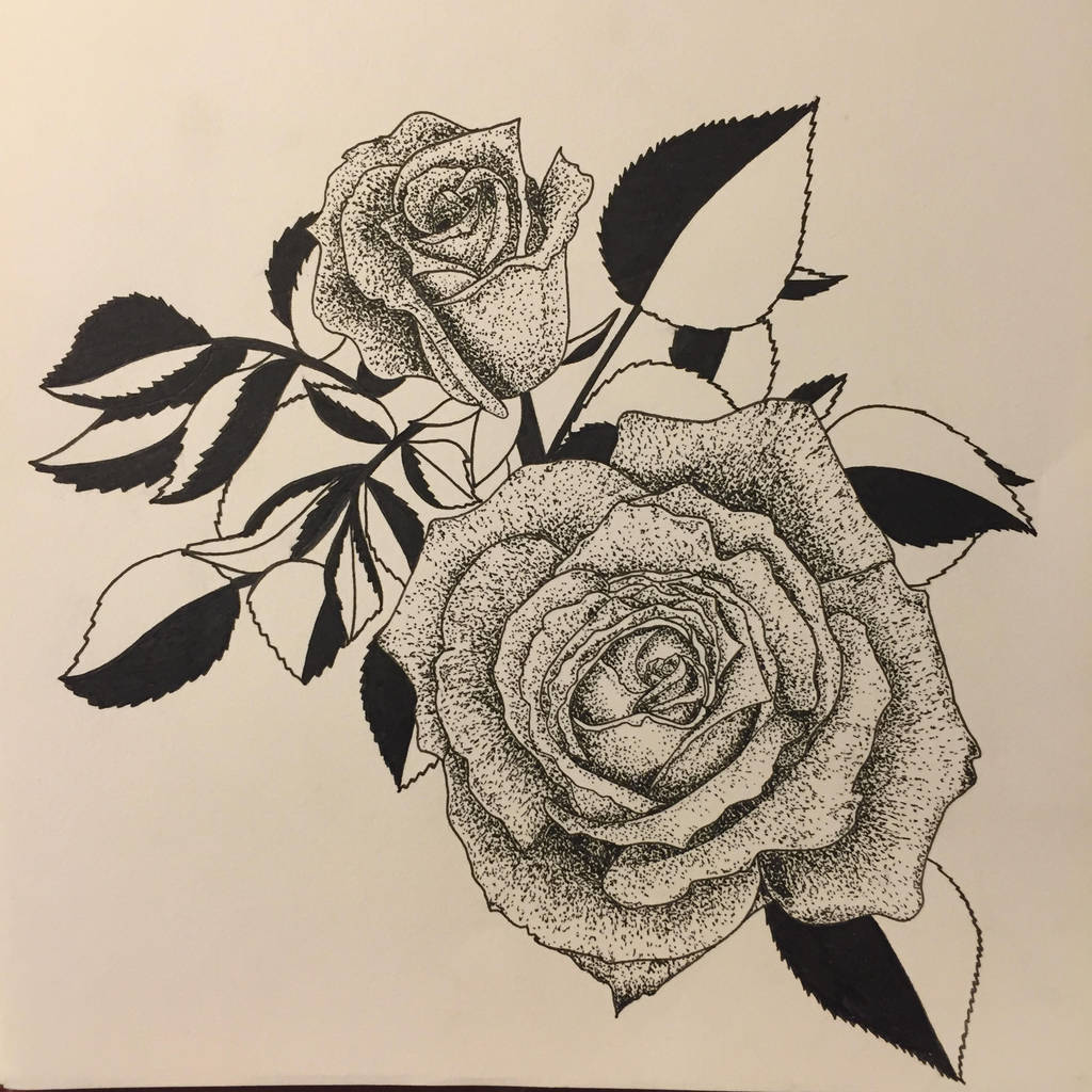 96b0073e6 Black Work Flower Drawing | Gardening: Flower and Vegetables