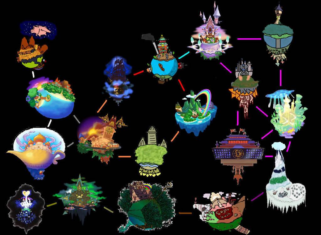 Map Atlantica Kingdom Hearts